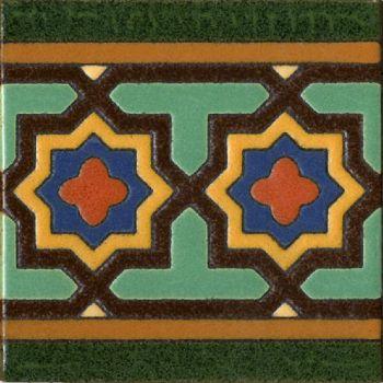 A classic design with Moorish border detail.