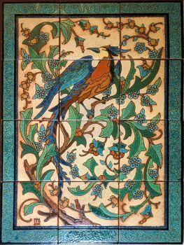 """Belle Jardin Fancy Border Panel 24x32"""" satin"""