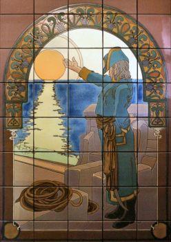 "The Sea Captain Mural  40x64"" tile"