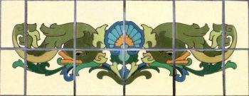 "DR Fish Panel  36x12"" tile"