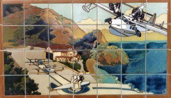 "EP Catalina Seaplane Mural  42x24"" tile"