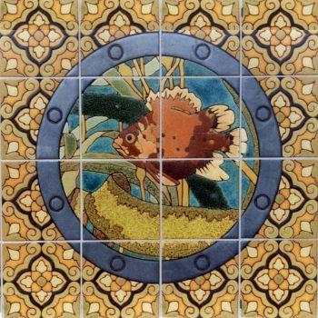 "EP Porthole Round Baby Bass Mural  24x24"""