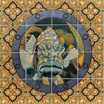 """EP Porthole Round Bass Face Mural  24x24"""""""