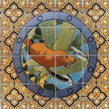 """EP Porthole Round Male Seal Mural  24x24"""" tile"""