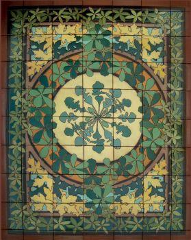 "Fallen Leaf Green Panel 50x69"" tile"