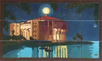 "EP Casino by Moonlight  Mural  30x18"" tile"
