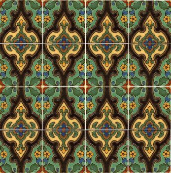 "6 x 6"" Shiraz deco satin - Green"