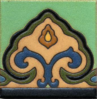 """Saracen deco satin-ZigGr 6x6"""" tile pattern"""