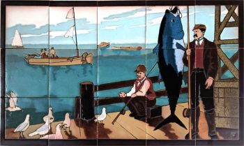 The Postcard Mural series was created for the Enchanted Promenade in Avalon on Santa Catalina Island, CA.  These images depict nostalgic scenes from Catalina's storied past.  This mural is copyright property of RTK Studios.