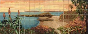 """O Laguna Cliffs Mural  108x84"""" tile"""