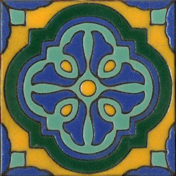 "6x6"" Lucia deco gloss-Blue"