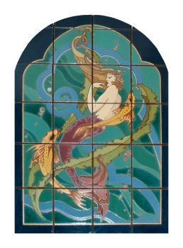 """MCK Mermaid Mural  24x32"""" tile"""