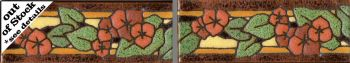 "2 Tile  2x6"" Bougainvillea Left Liner deco satin-Classic"