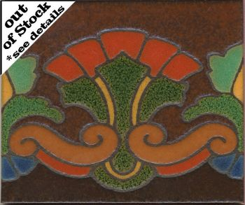 "5x6"" Palmero Riser deco satin-Brown tile"