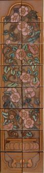 "Rosa Vieja Brown Panel  12x48"" tile"