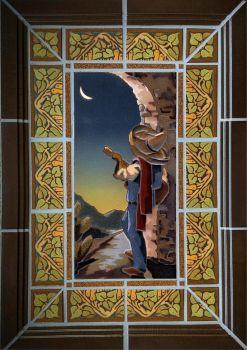 Mounted Senor Mural