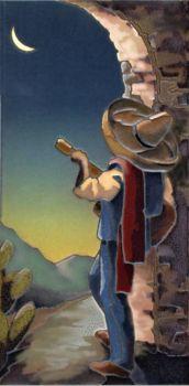 """Senor by Moonlight Mural  8x16"""" tile"""