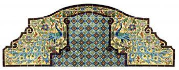 Peacock Fountain Mural 144 x 54