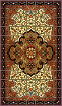 """A Persian Rug Small Red 72 x 42"""" tile"""