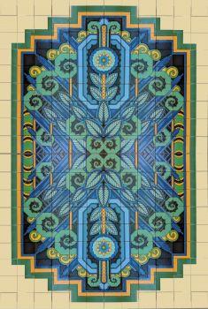 """Spanish Deco Panel  72x108"""" tile"""