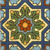 6 by 6 inch historic handglazed Spanish tile
