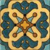 "6x6"" Mariposa deco satin - blue"